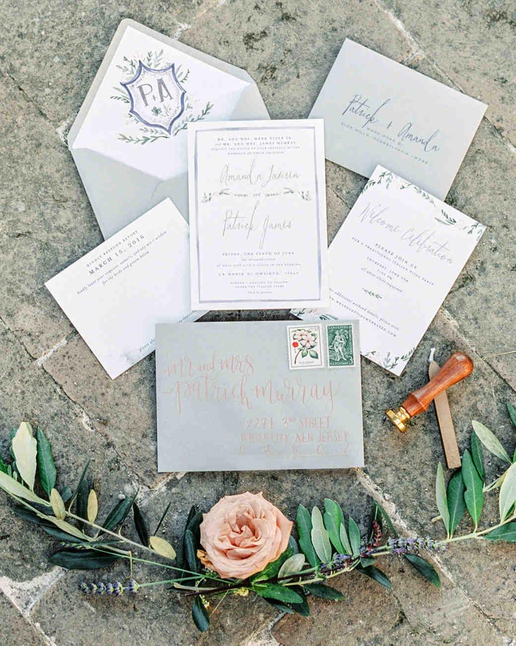 amanda patrick wedding invite