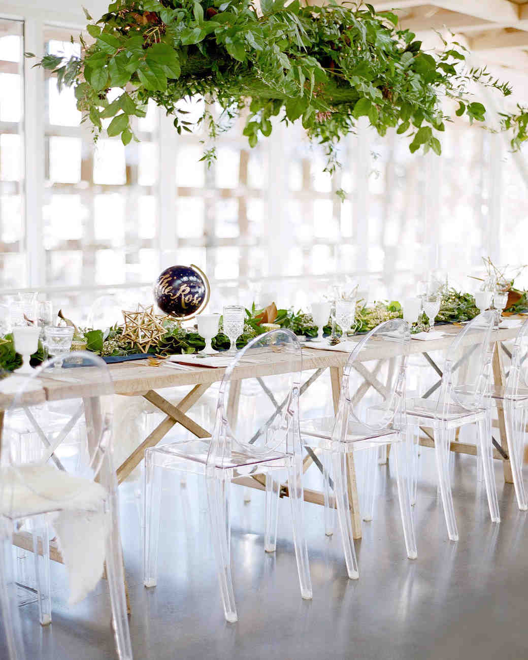 wedding chairs greenery