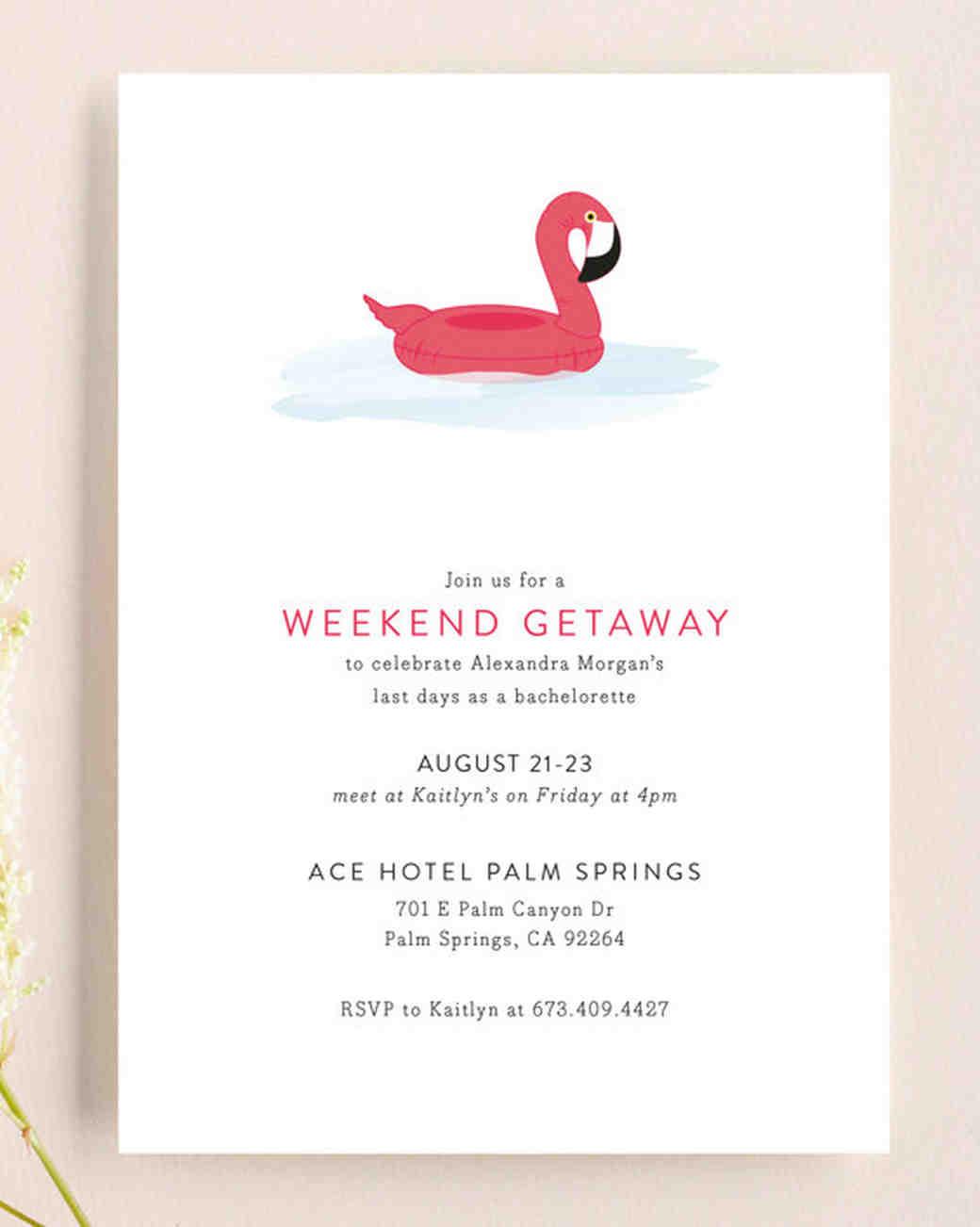 Our Favorite Bachelorette Party Invitations Martha Stewart Weddings