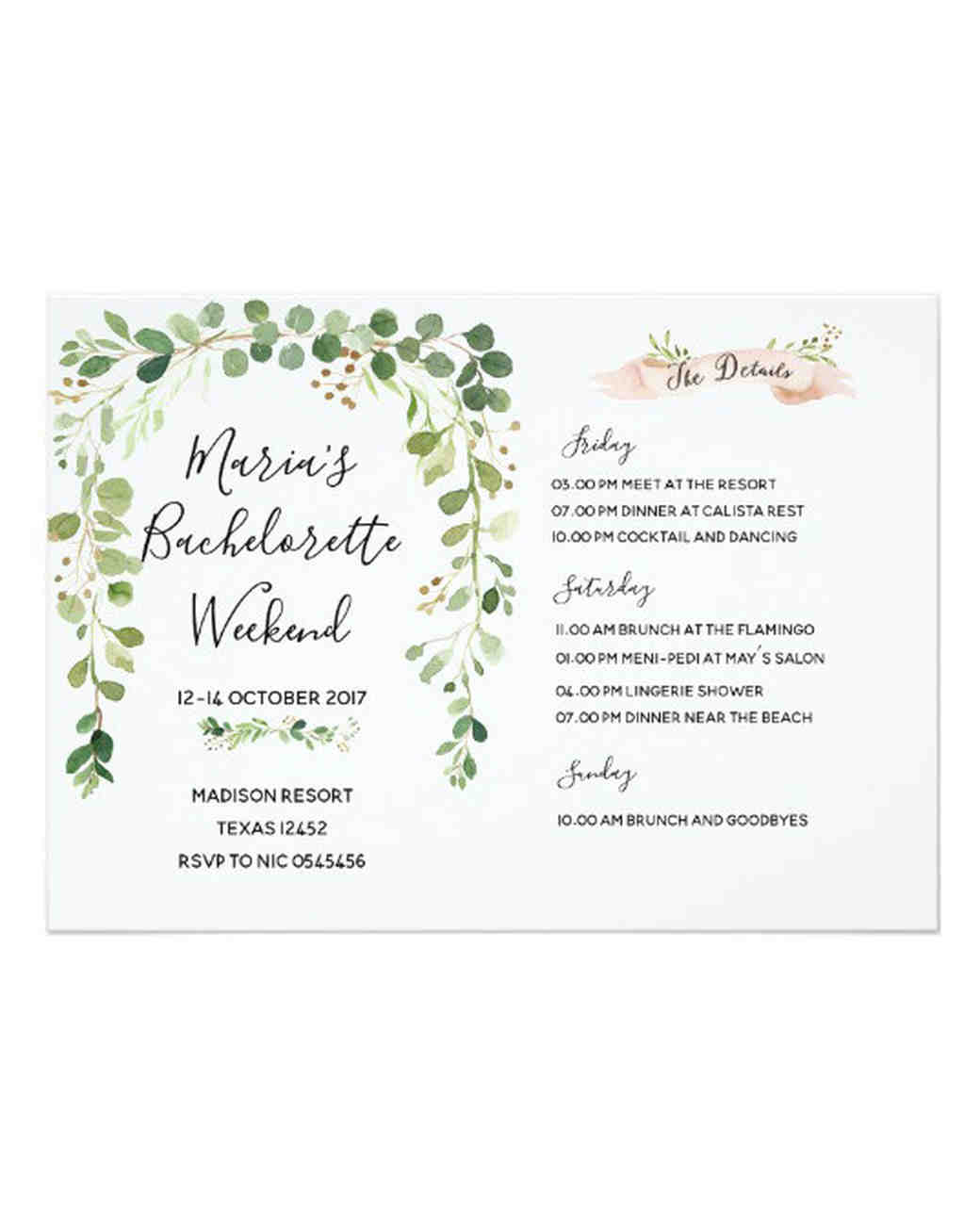 Our Favorite Bachelorette Party Invitations Martha Stewart Weddings