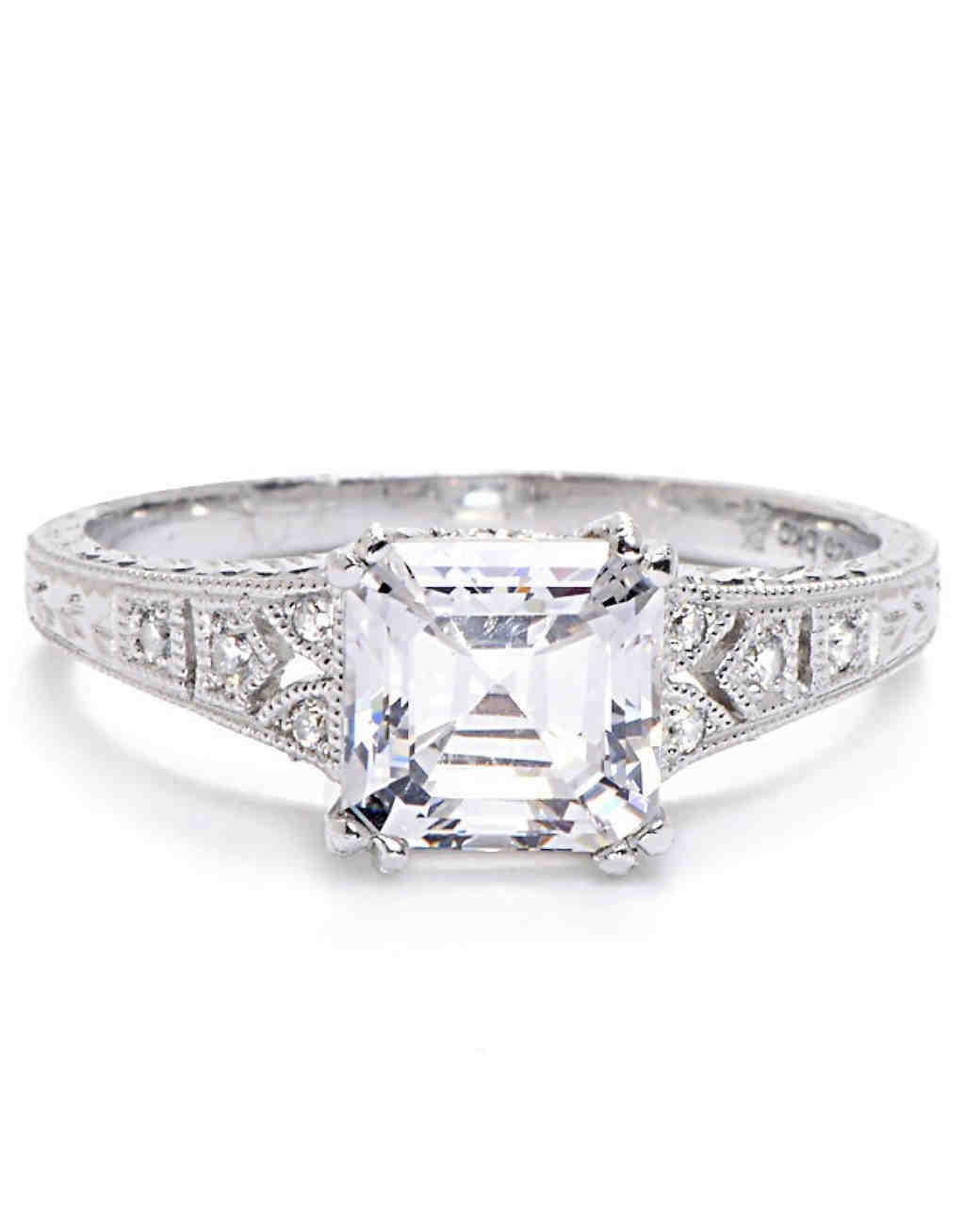 Beverley K Asscher Cut Diamond Engagement Ring: Gatsby Style Wedding Rings At Reisefeber.org