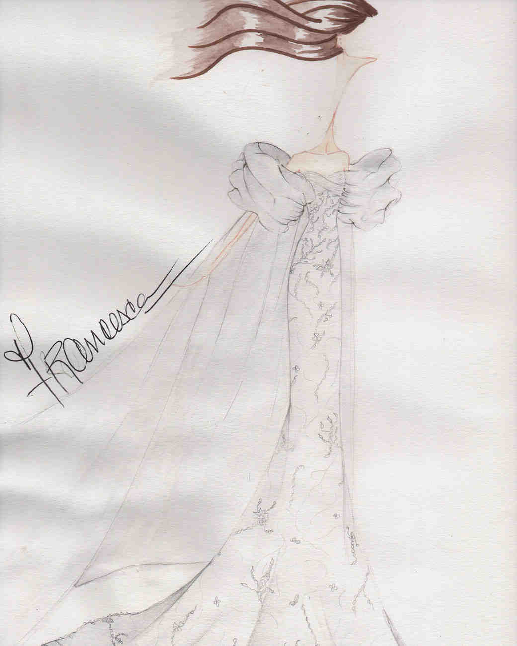 francesca miranda spring 2020 wedding dress sketch