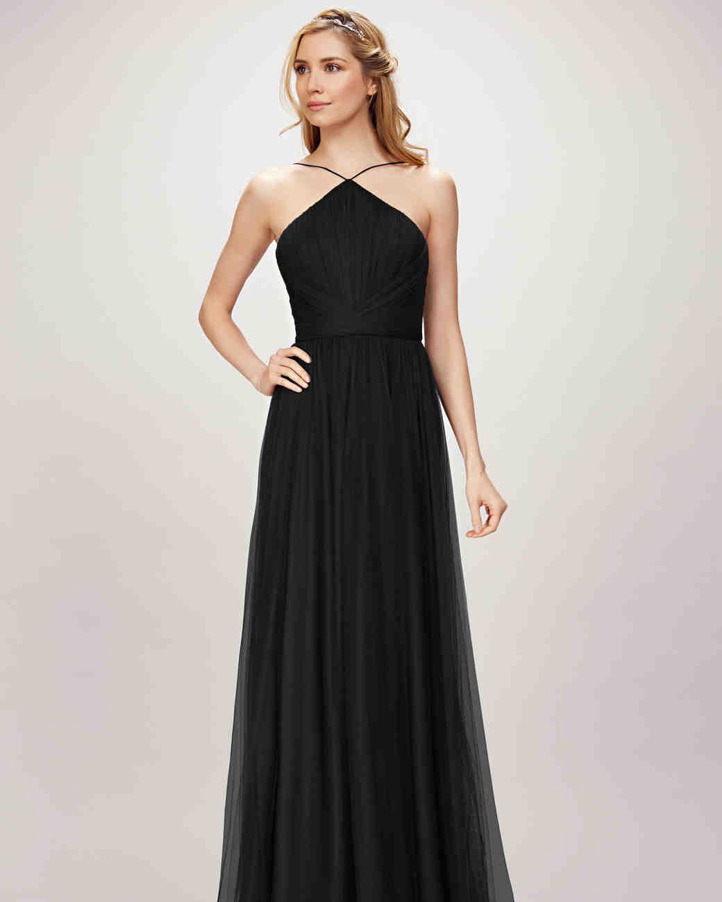9a8fa70041e0 Chic Black Bridesmaid Dresses | Martha Stewart Weddings