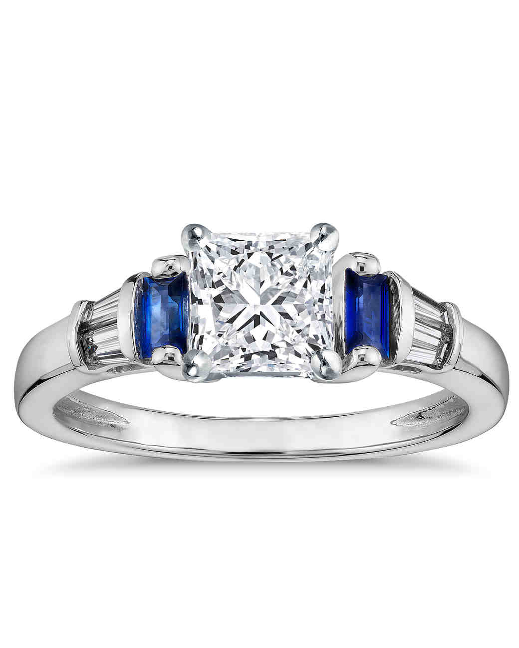 gold accent cz rings white wedding engagement cut blue rhodium stone plated and octagon ring