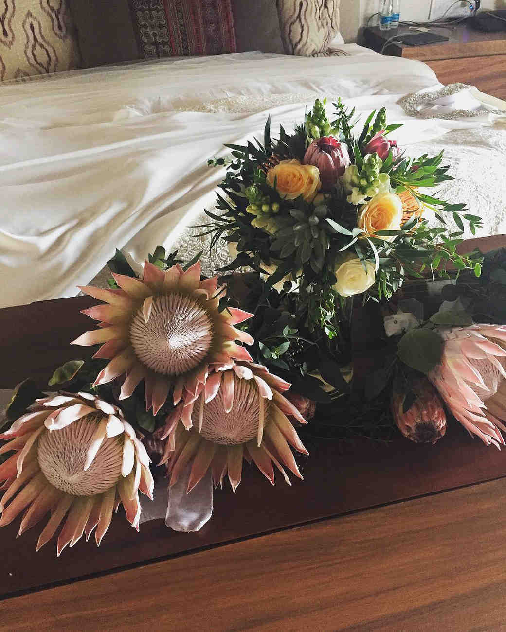 Bob Guiney and Jessica Canyon's Wedding Bouquets