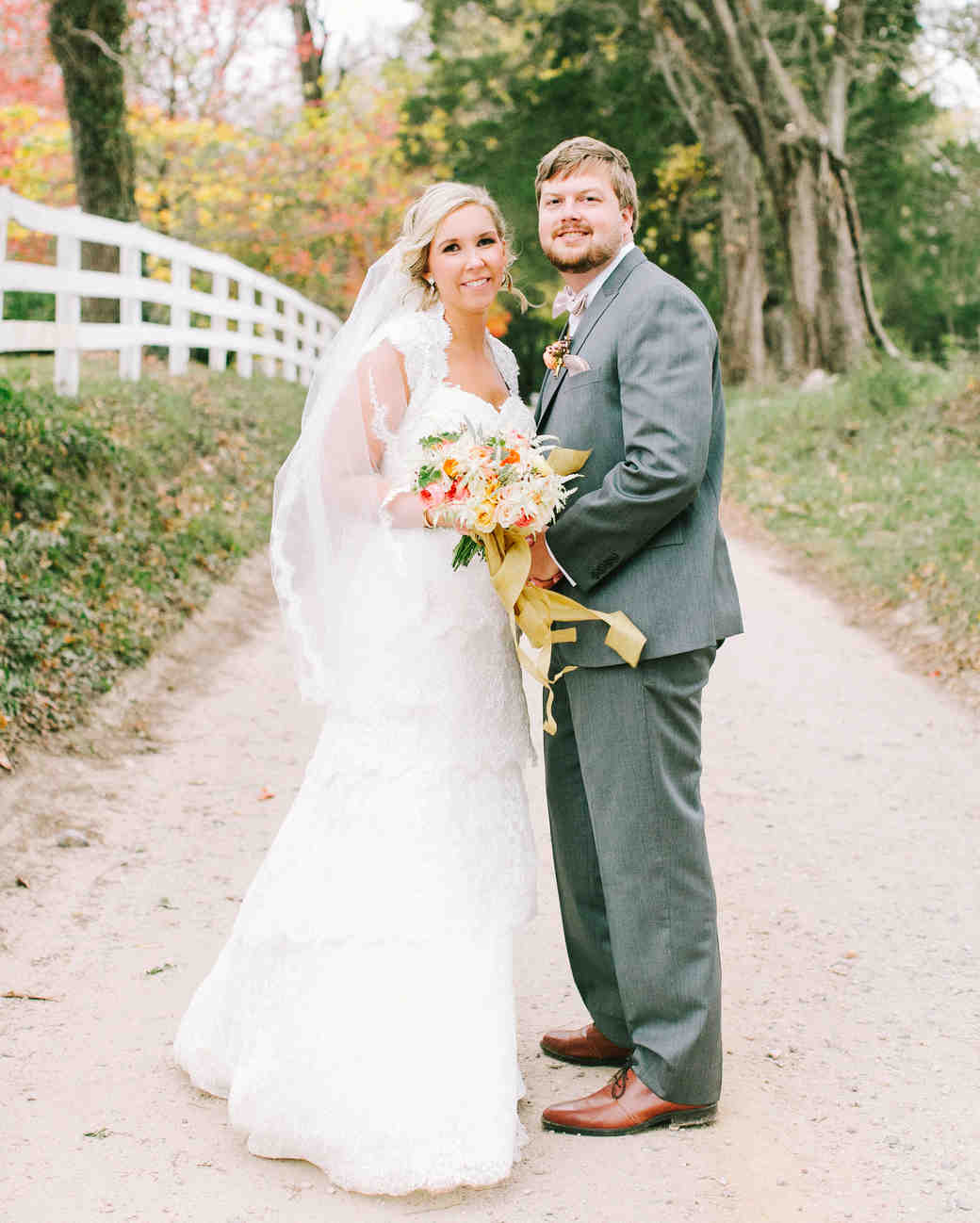 677228bdd18f Brittany and Andrew s Pretty Fall Wedding at Thomas Jefferson s ...