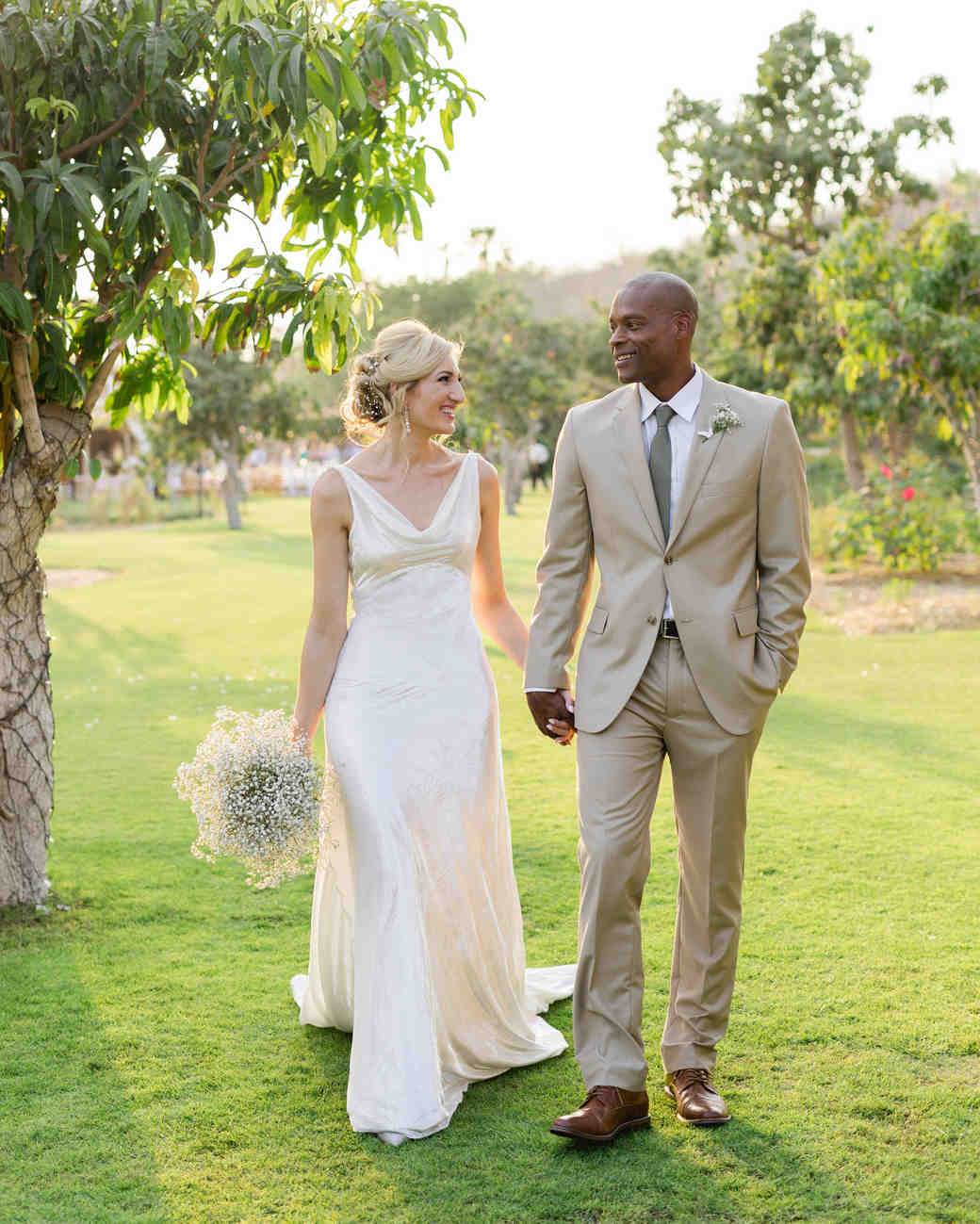 brittany craig wedding couple walking