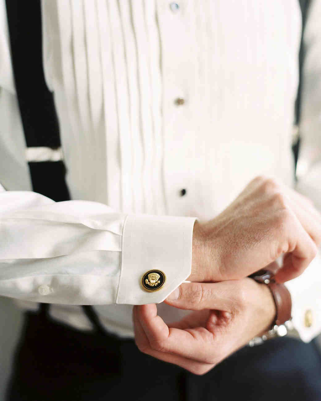 celina rob wedding virginia cufflinks