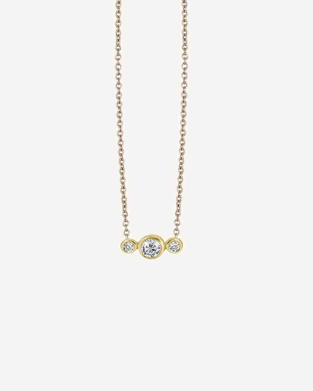 delicate gold necklace  pendant Ilana Ariel