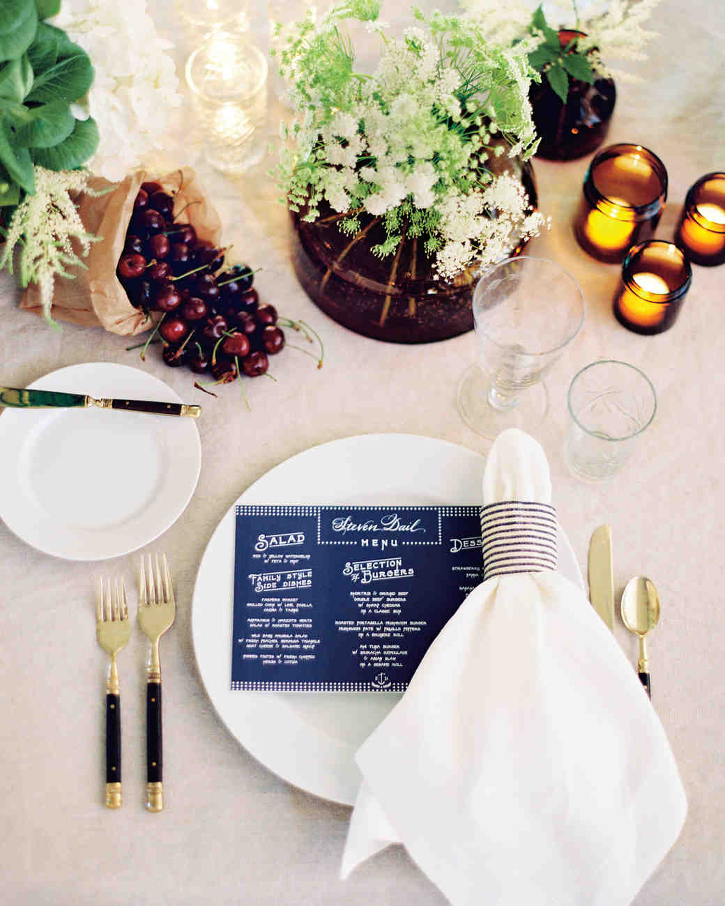 & 18 Creative Ways to Set Your Reception Tables | Martha Stewart Weddings