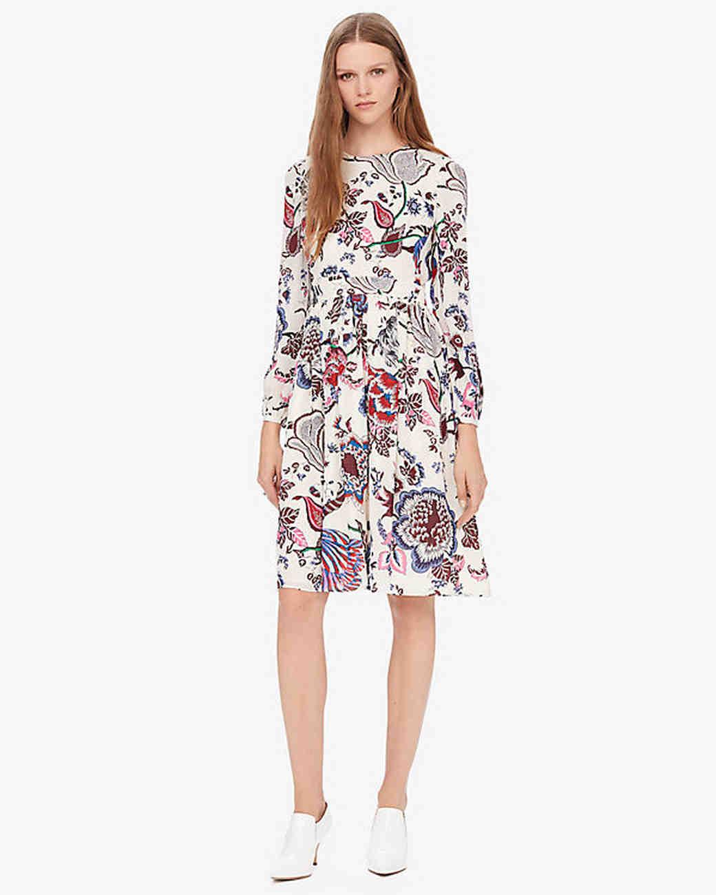 short tory burch floral engagement party dress