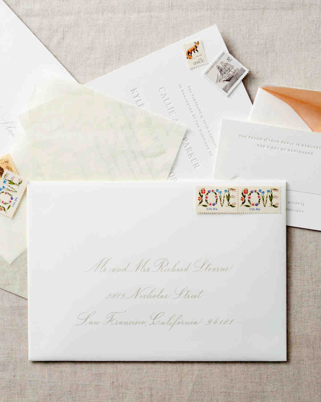how to address guests on wedding invitation envelopes martha stewart weddings - Wedding Invitation Wording Etiquette