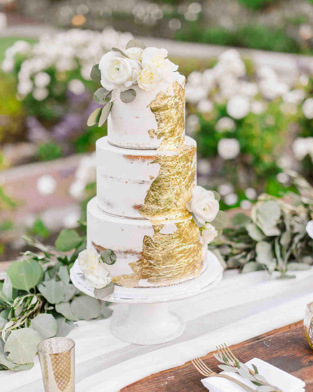 Eucalyptus wedding cake decor table centerpiece