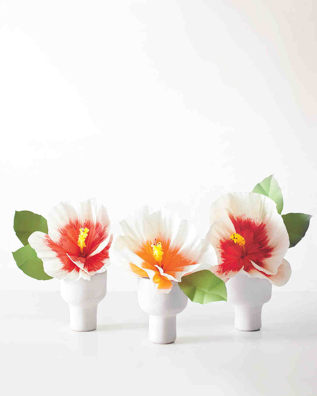 How to make paper flowers martha stewart weddings hibiscus paper flowers dhlflorist Images