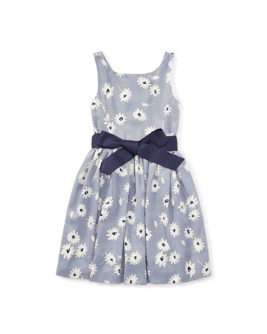 blue floral flower girl dress