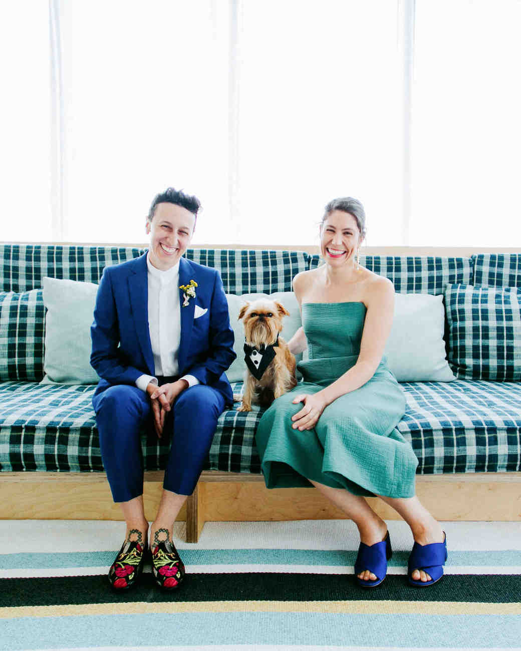brides with dog