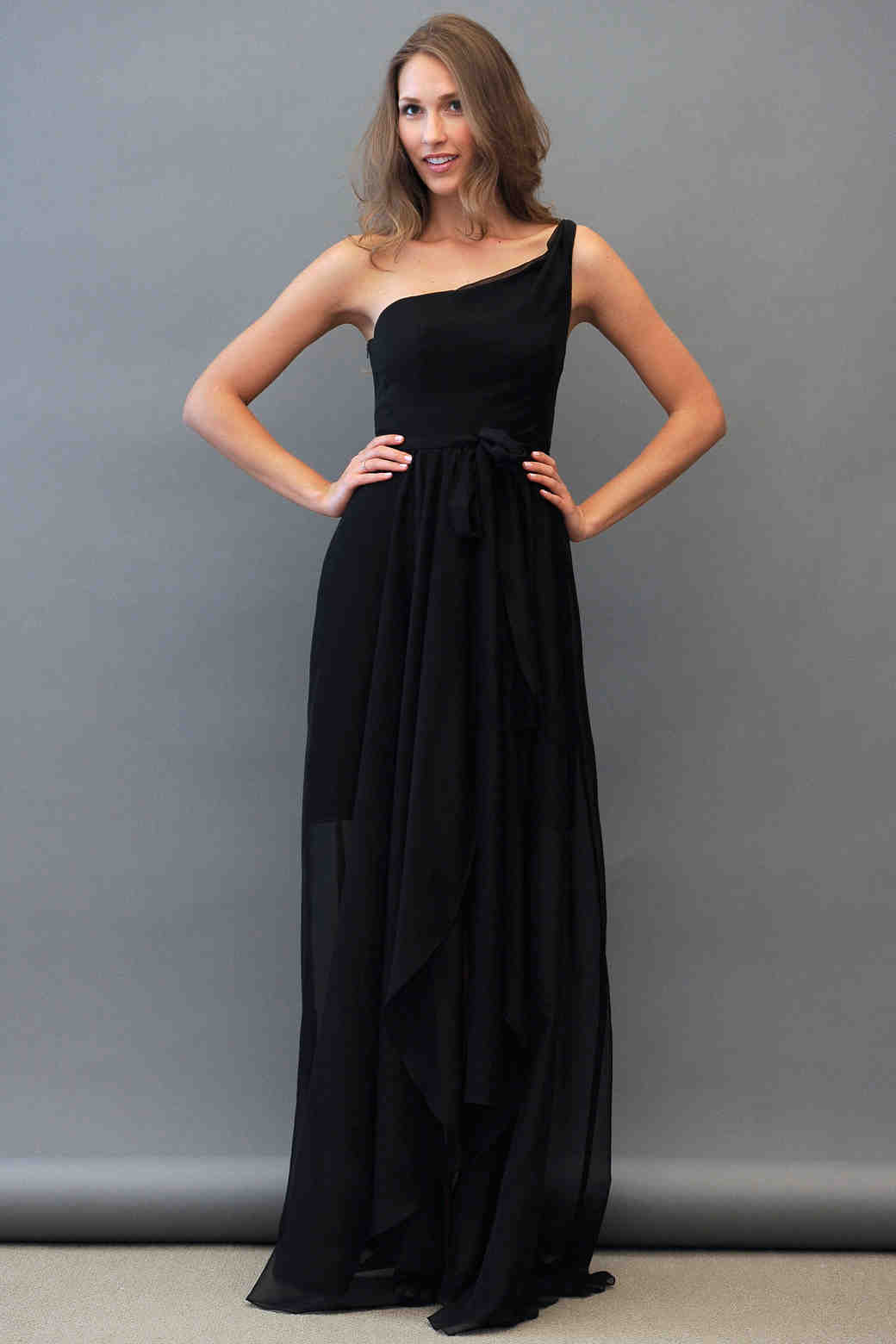 Jim Hjelm One Shoulder Bridesmaid Dress