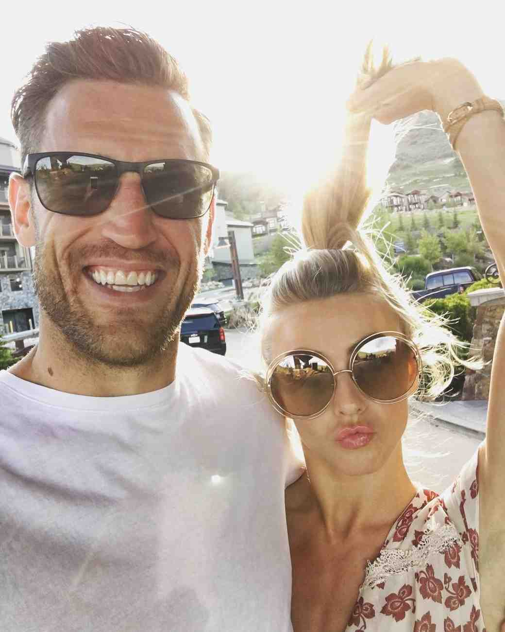 Julianne Hough and Brooks Laich share a silly date night photo