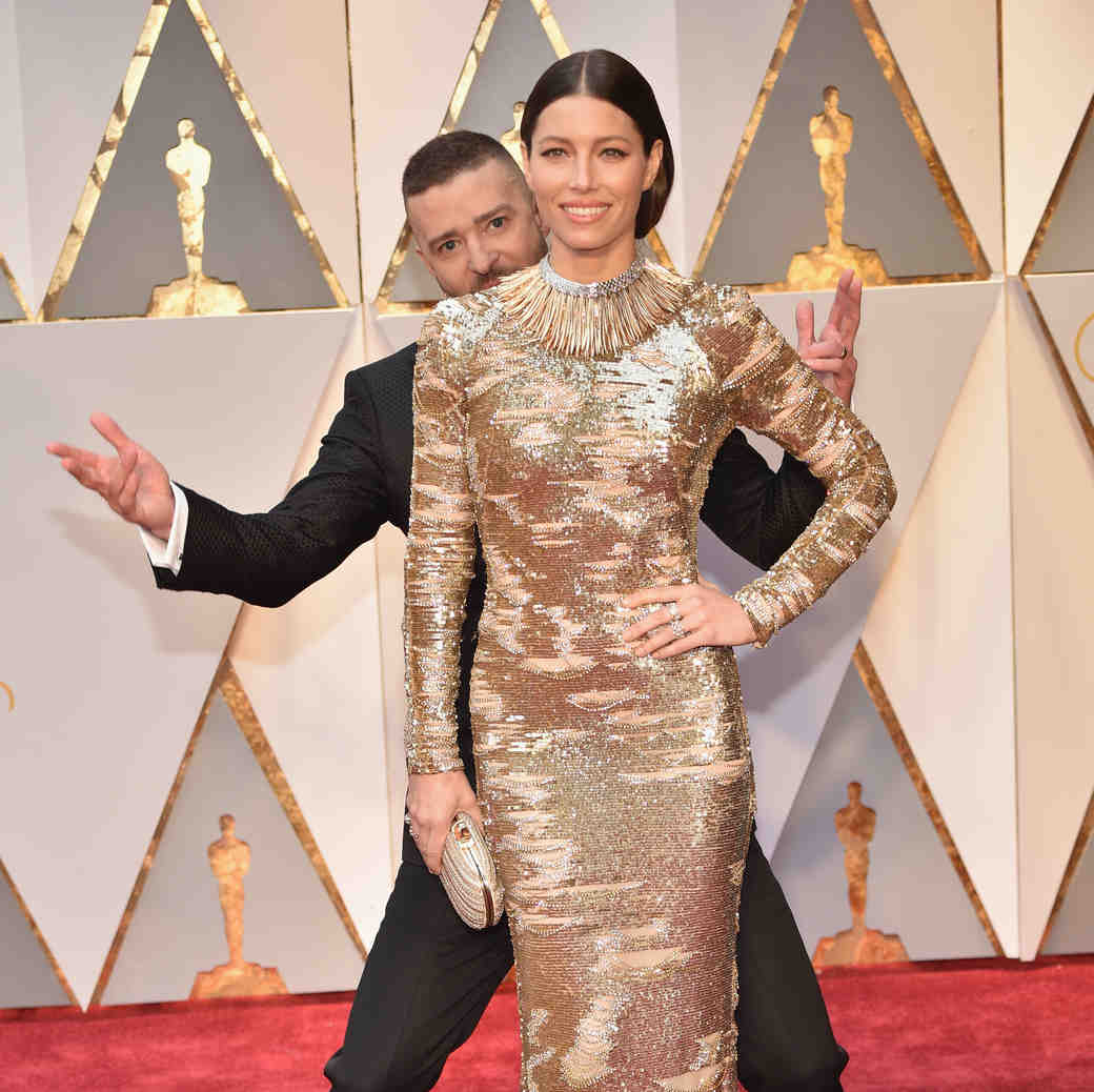 Justin Timberlake and Jessica Biel 2017 OscarsRed Carpet