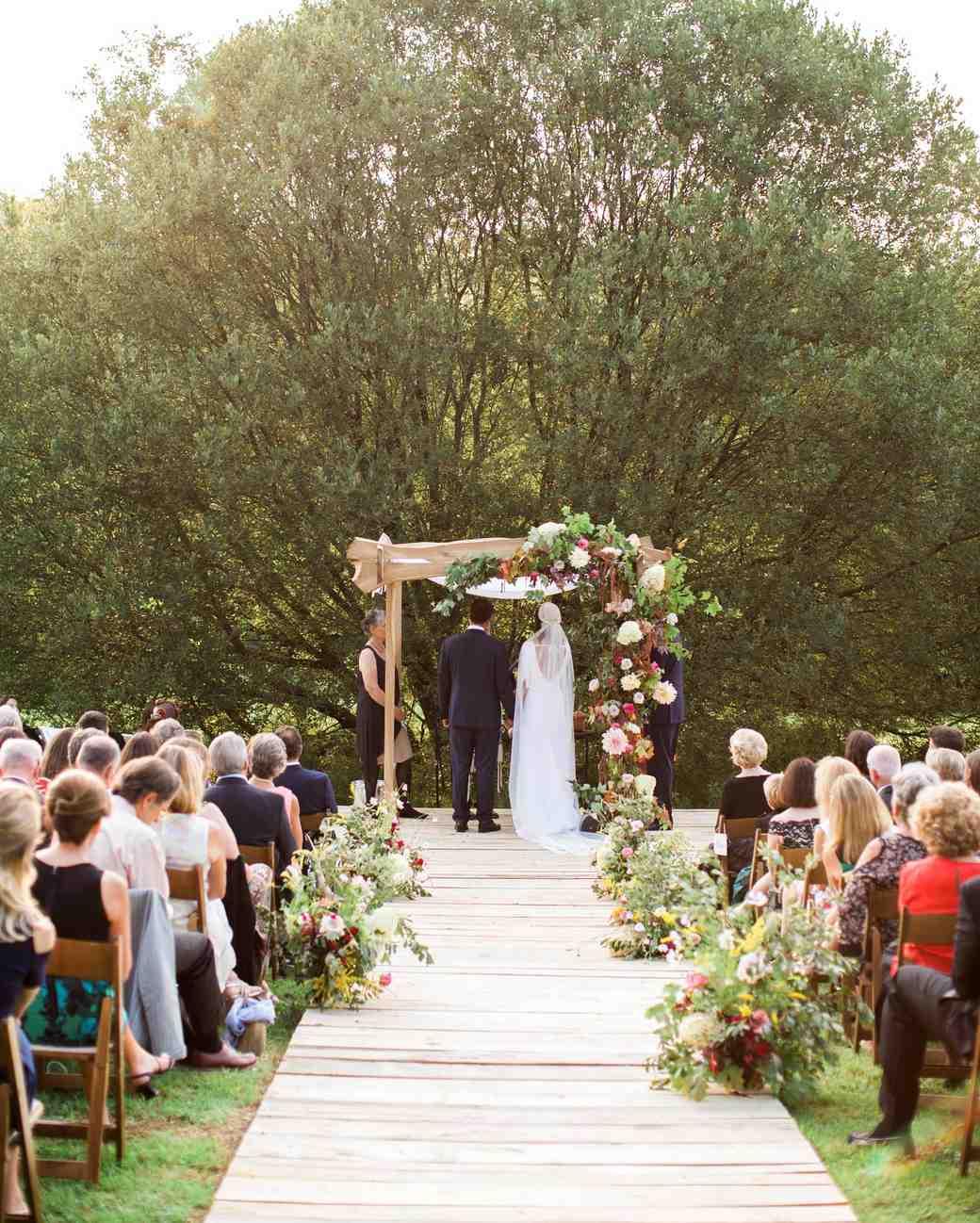 kayla michael wedding ceremony couple