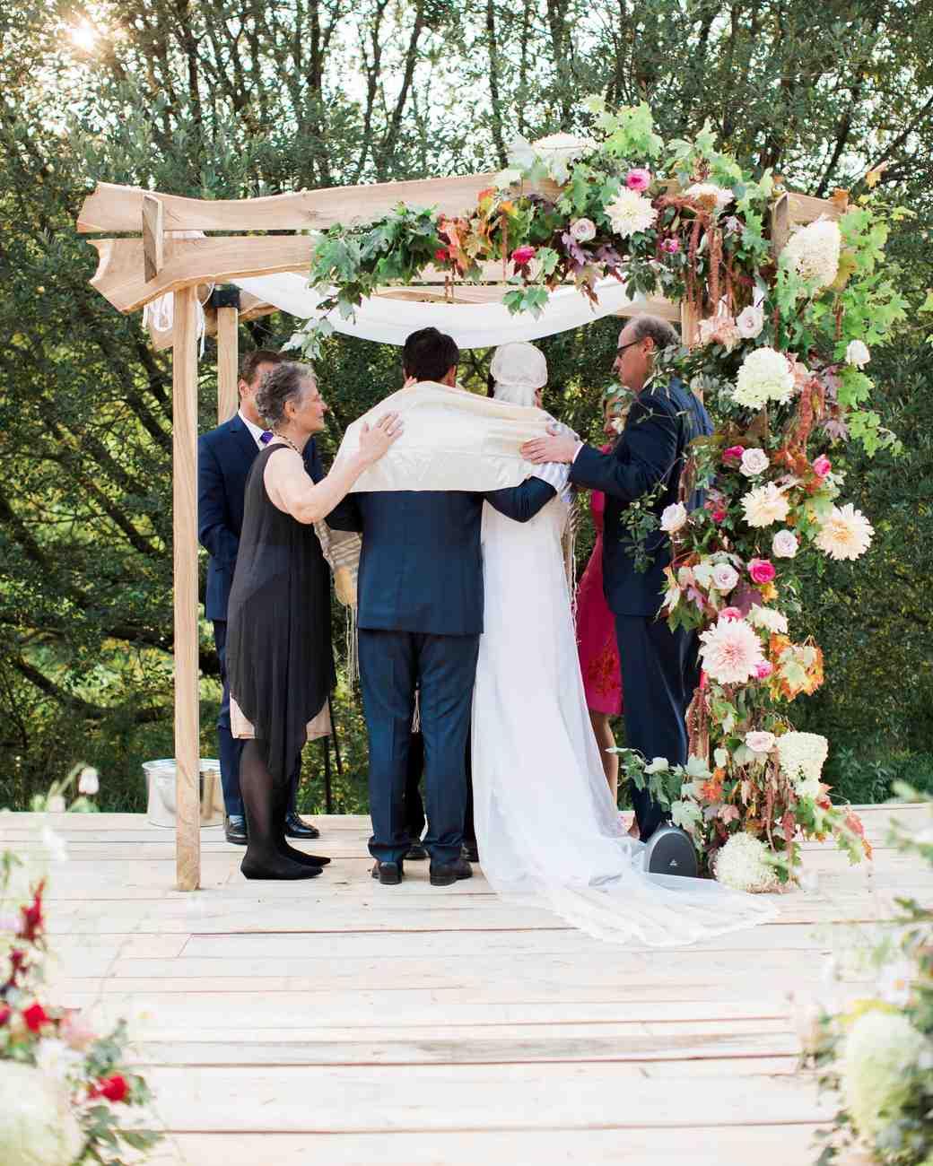 kayla michael wedding ceremony family