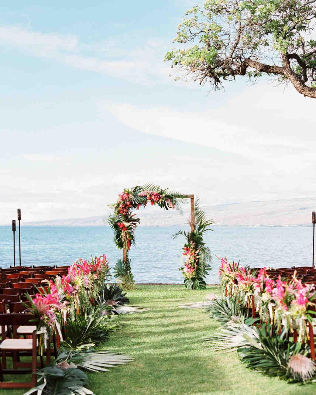 A Casual Beach Wedding in Puako, Hawaii | Martha Stewart Weddings