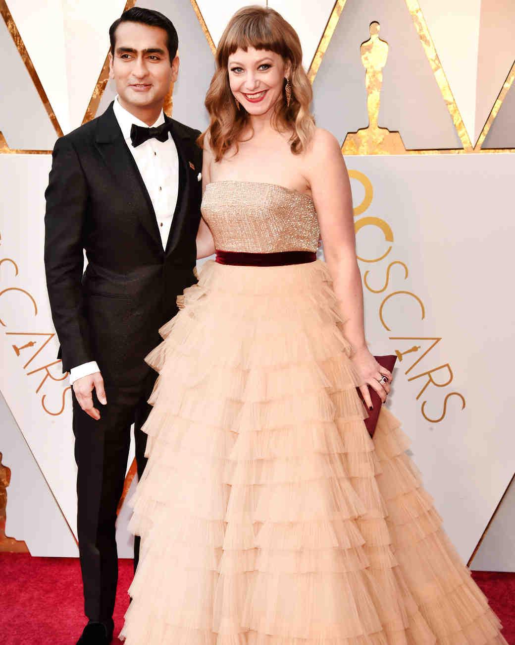 Kumail Nanjiani and Emily V. Gordon 2018 Oscars