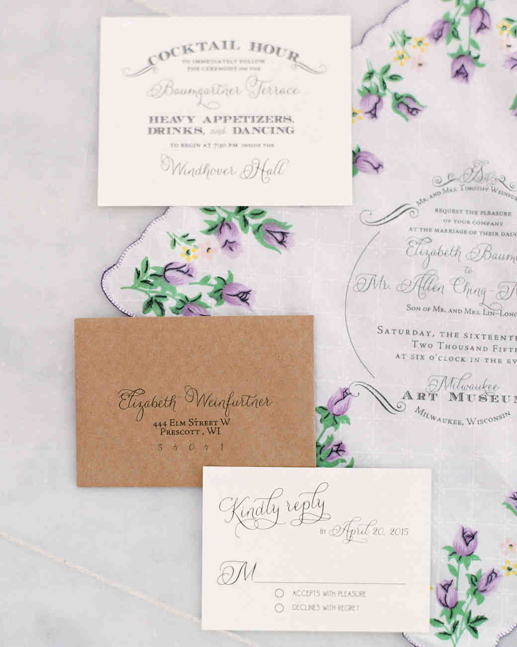 Vintage Wedding Invitations Martha Stewart Weddings
