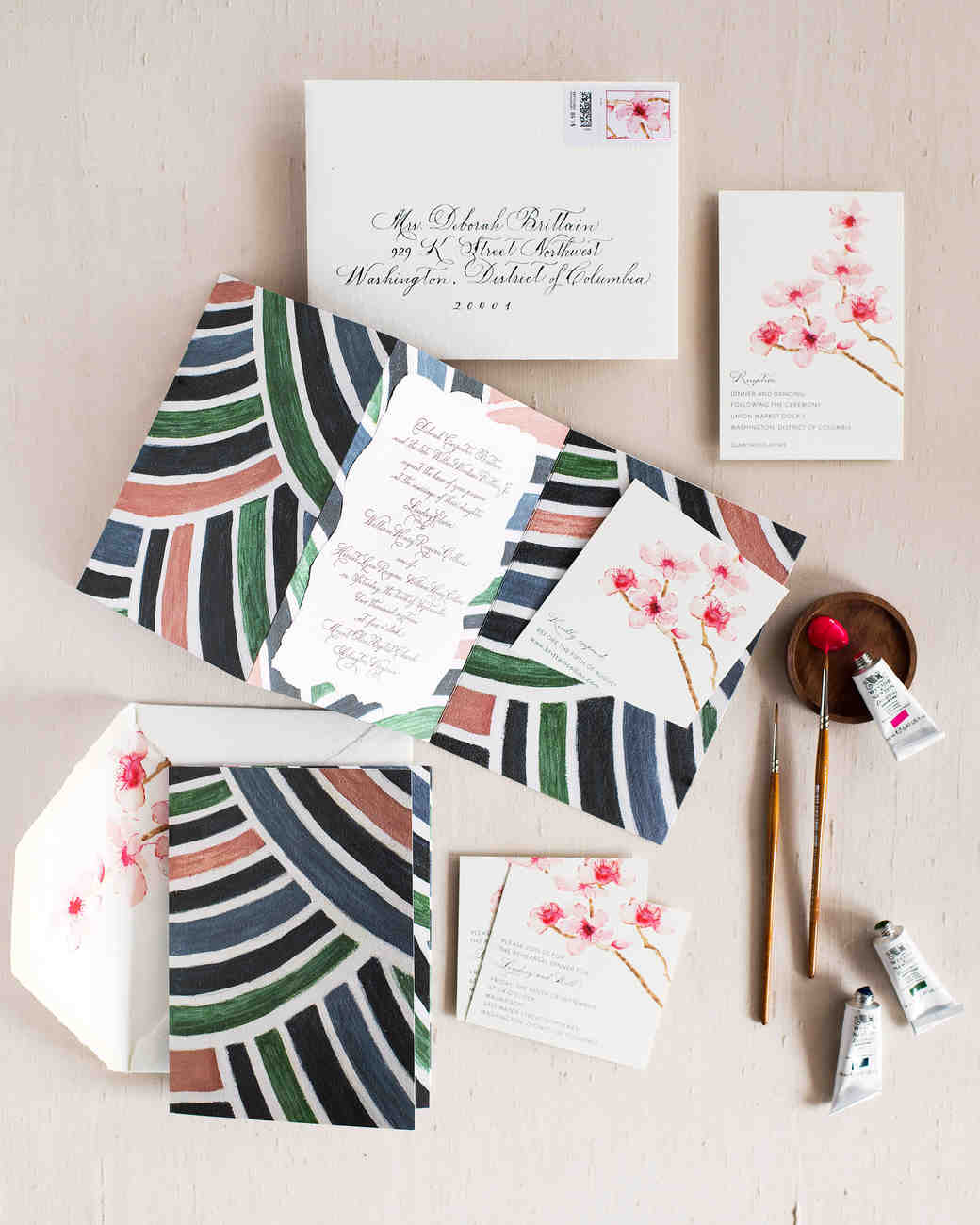 lindsey william wedding dc stationary