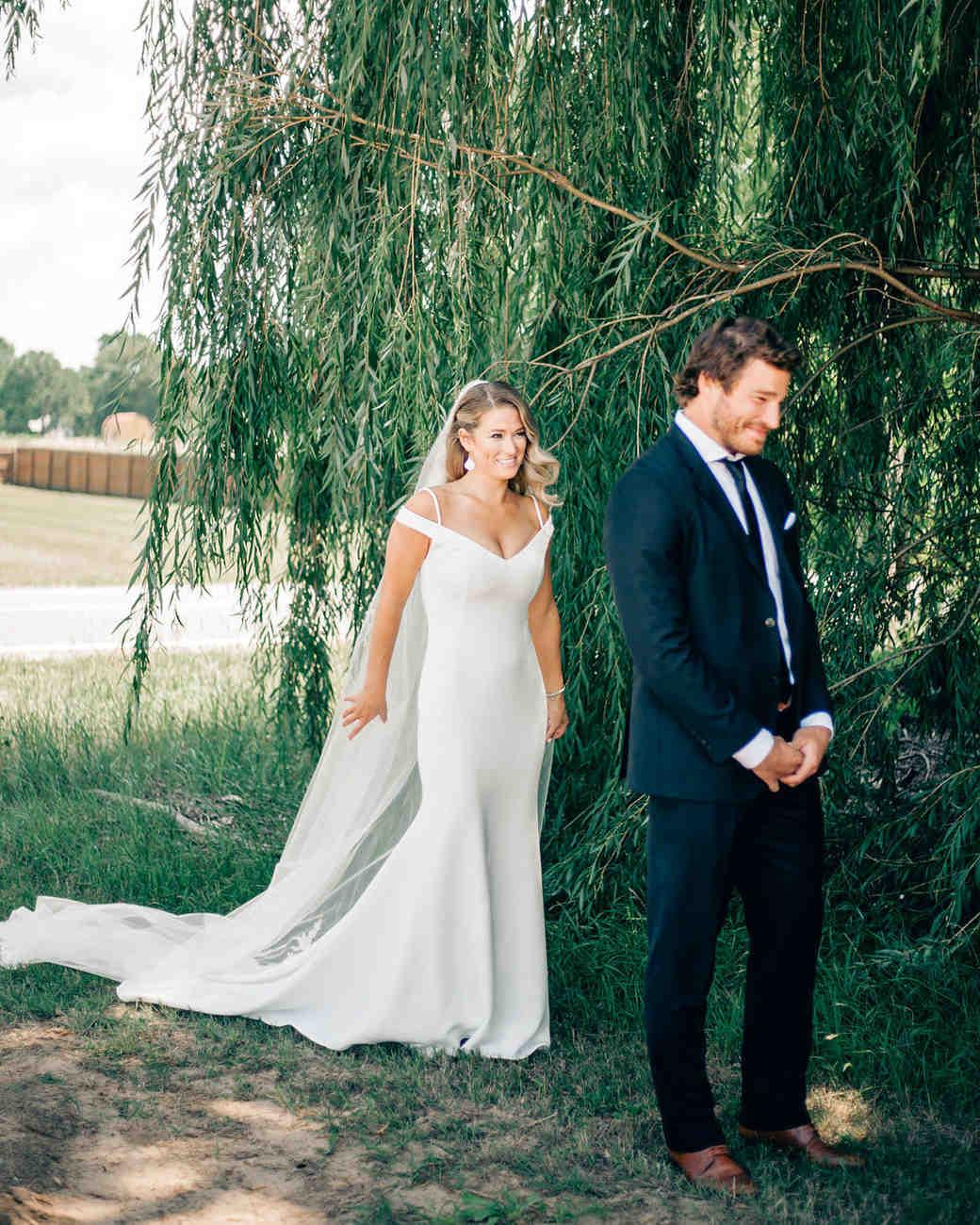 maggie zach wedding before first look
