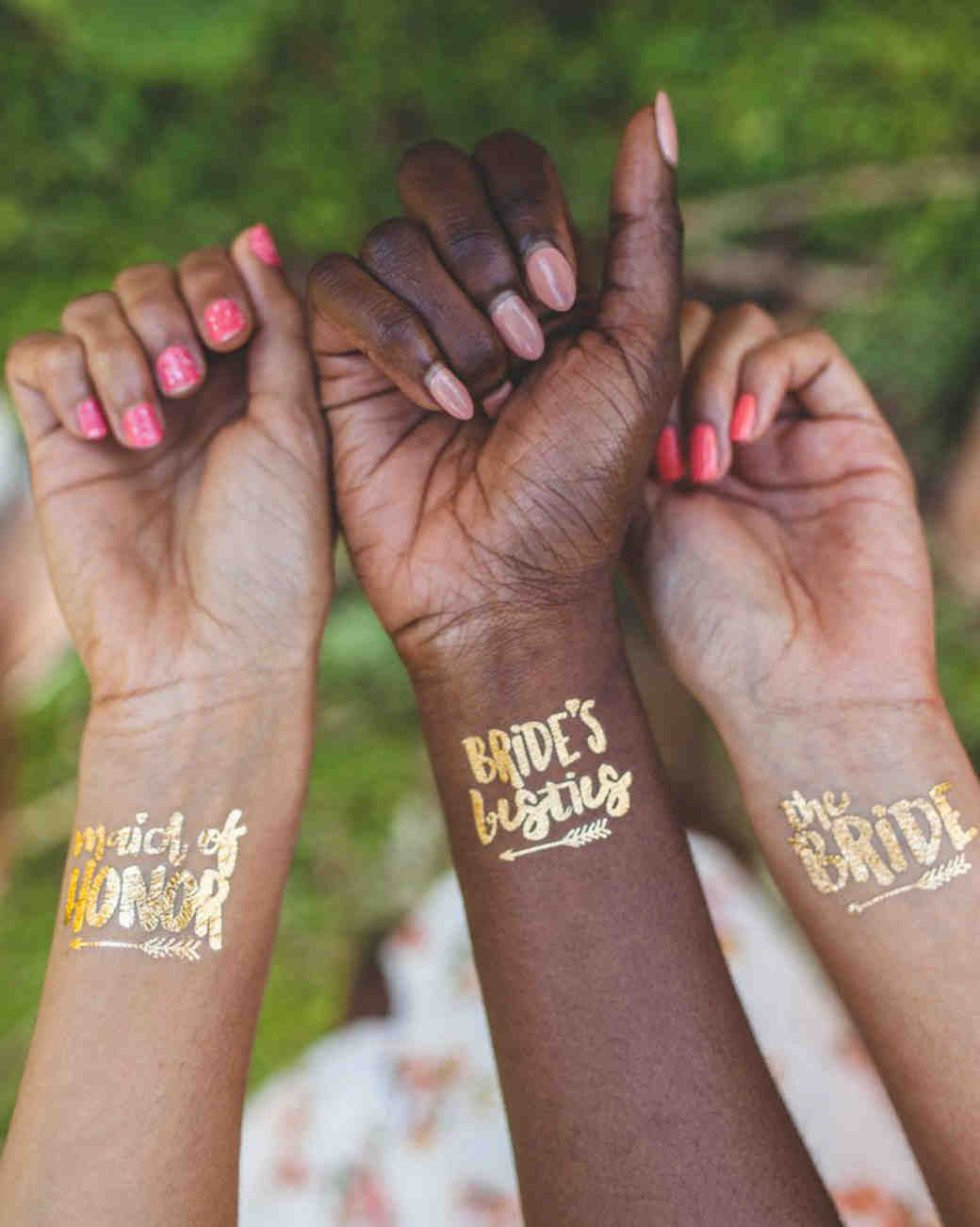 maid of honor proposal temporary tattoos