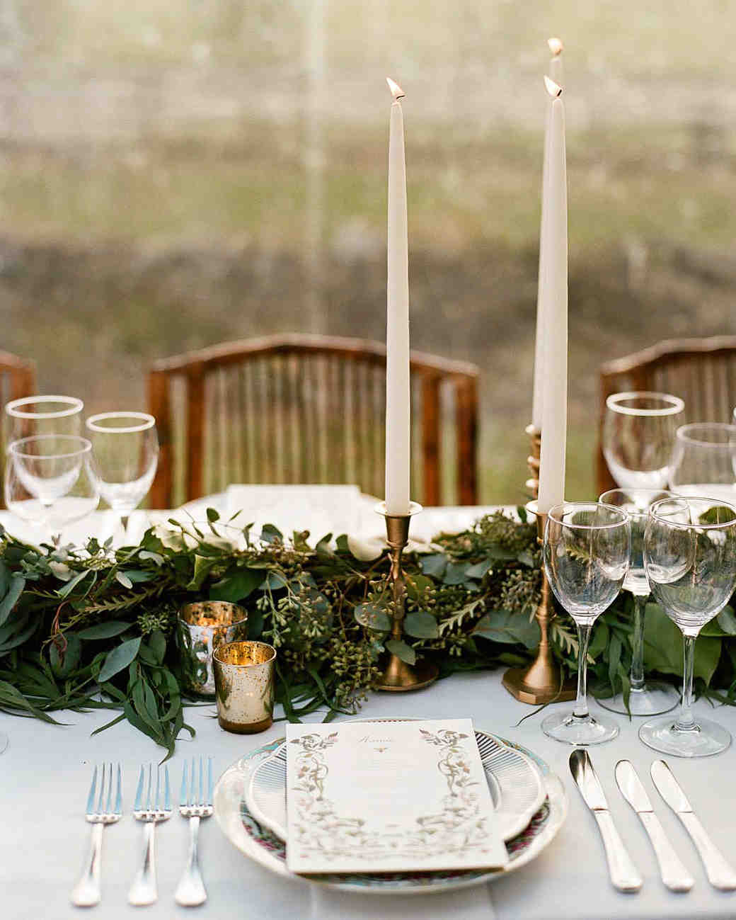 meg nick wedding placesetting