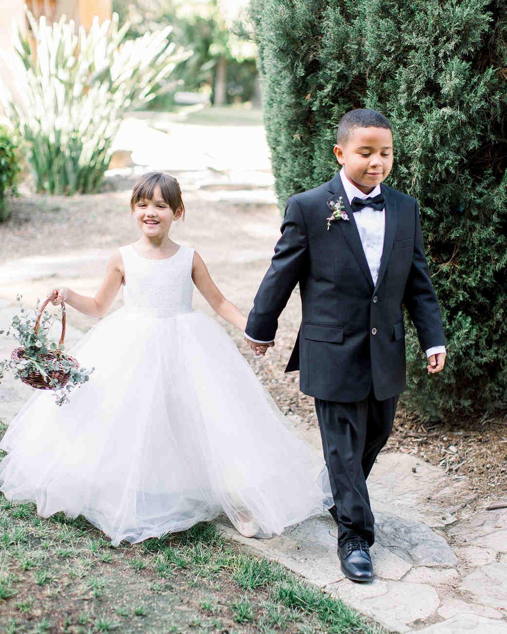 molly josh wedding flower girl and ring bearer