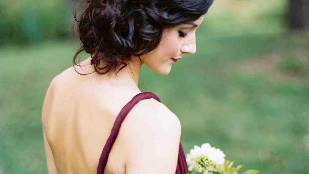 bridesmaid purple dress