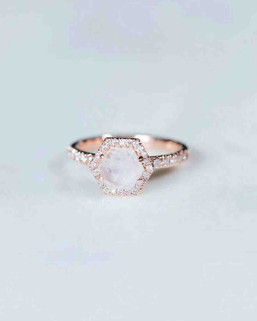 6504ad65553ca0 10 Moonstone Engagement Rings Modern Brides Will Love | Martha Stewart  Weddings
