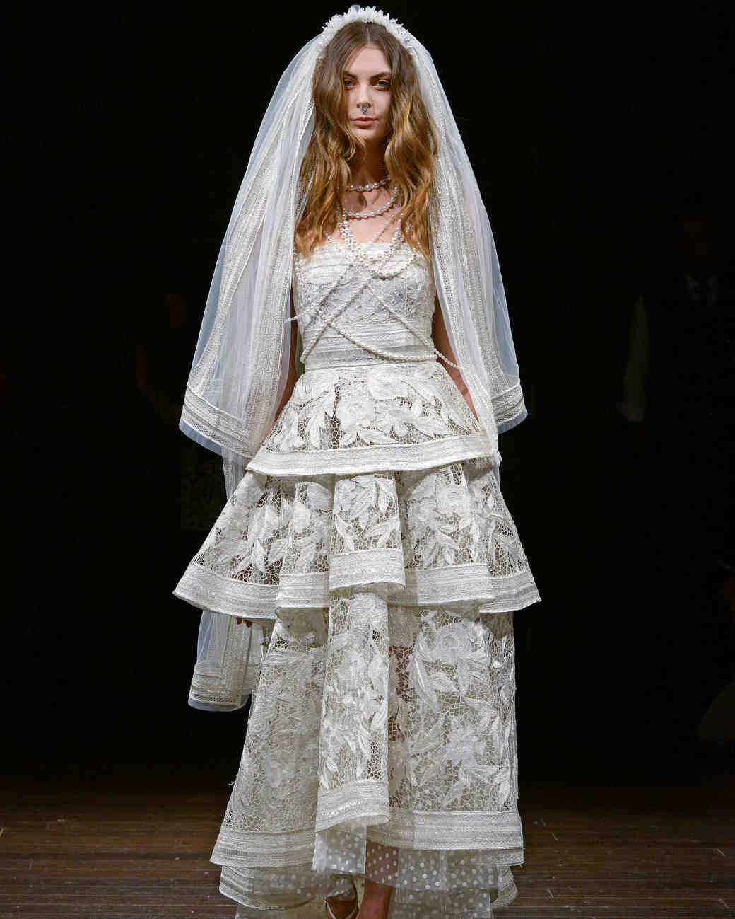 Naeem Khan Wedding Dress Veil Spring 2018