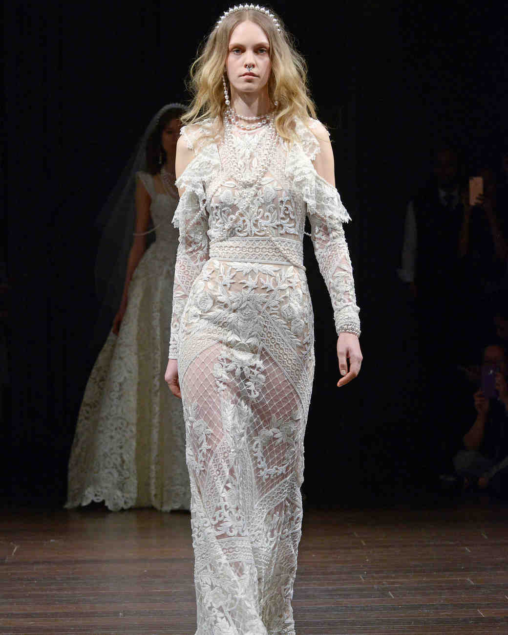 naeem khan mesh wedding dress spring 2018