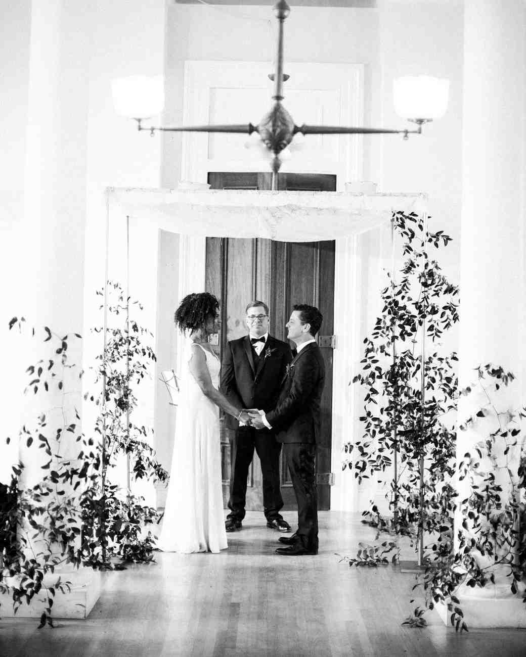 natalie louis wedding ceremony couple