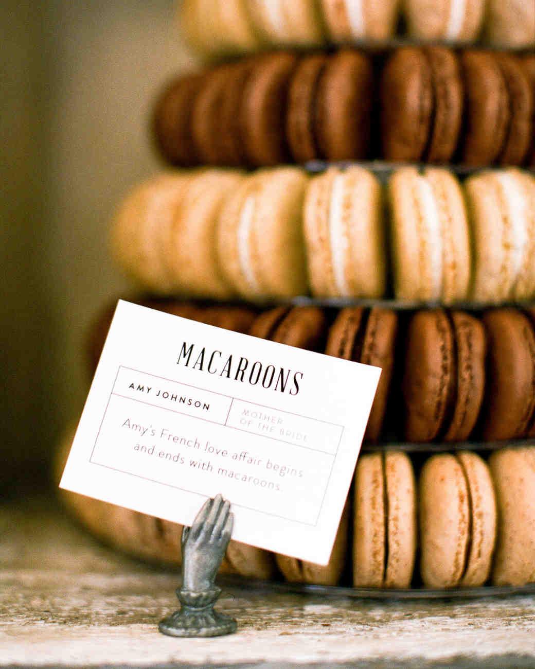 natalie louis wedding desserts macaroons