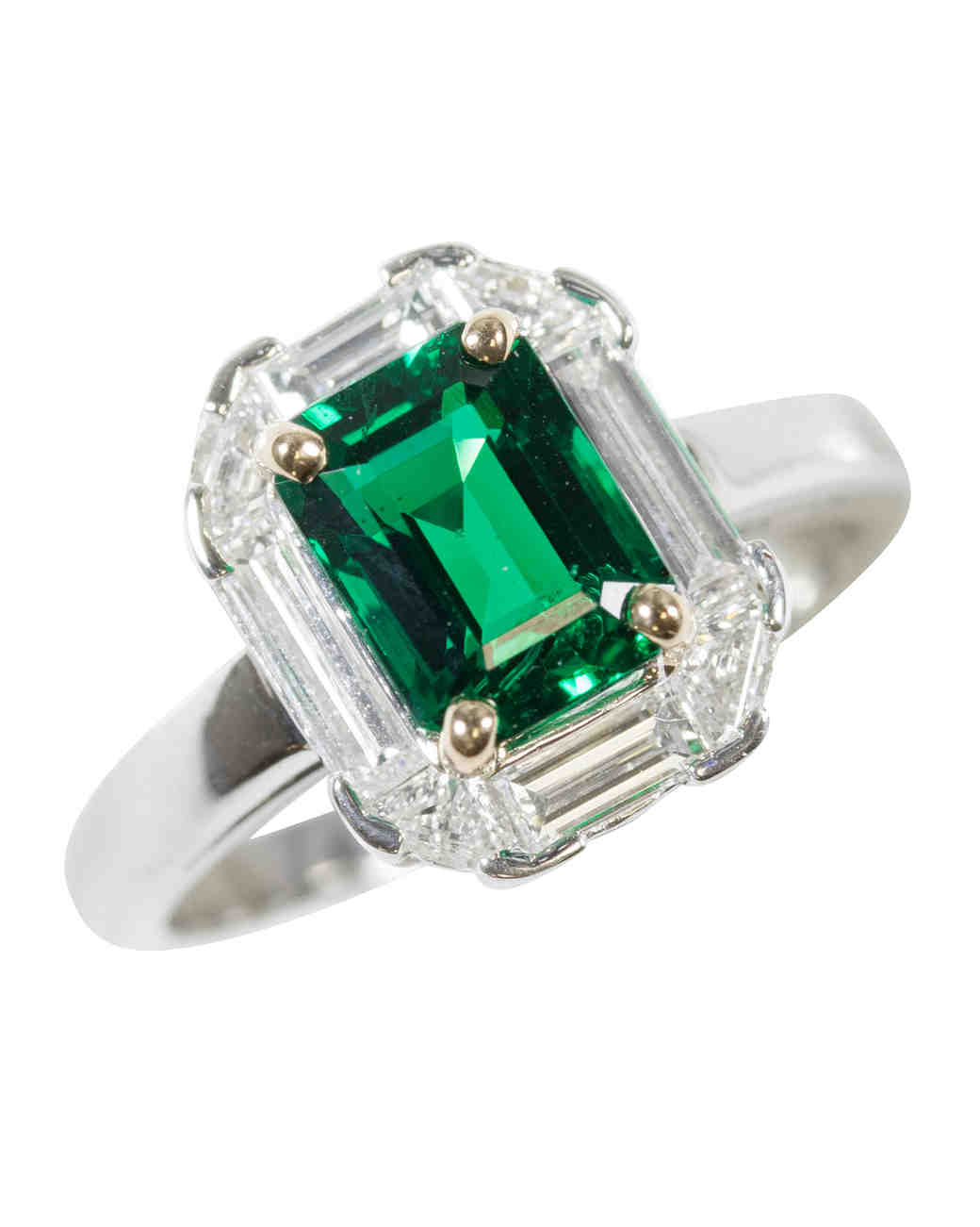 Oscar Heyman Emerald Engagement Ring