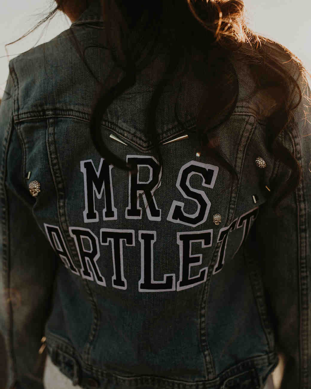 denim jacket with iron on name