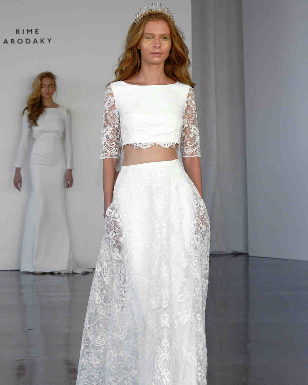 28 Two-Piece Wedding Dresses | Martha Stewart Weddings