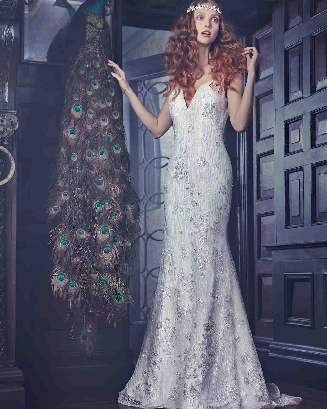 Sparkly Sareh Nouri Mermaid Wedding Dress Spring 2018