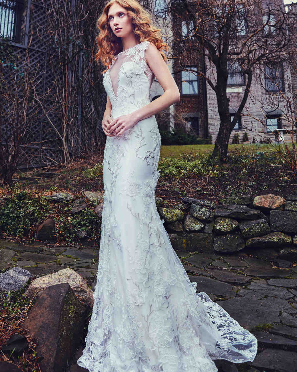Sareh Nouri Trumpet Wedding Dress Spring 2018