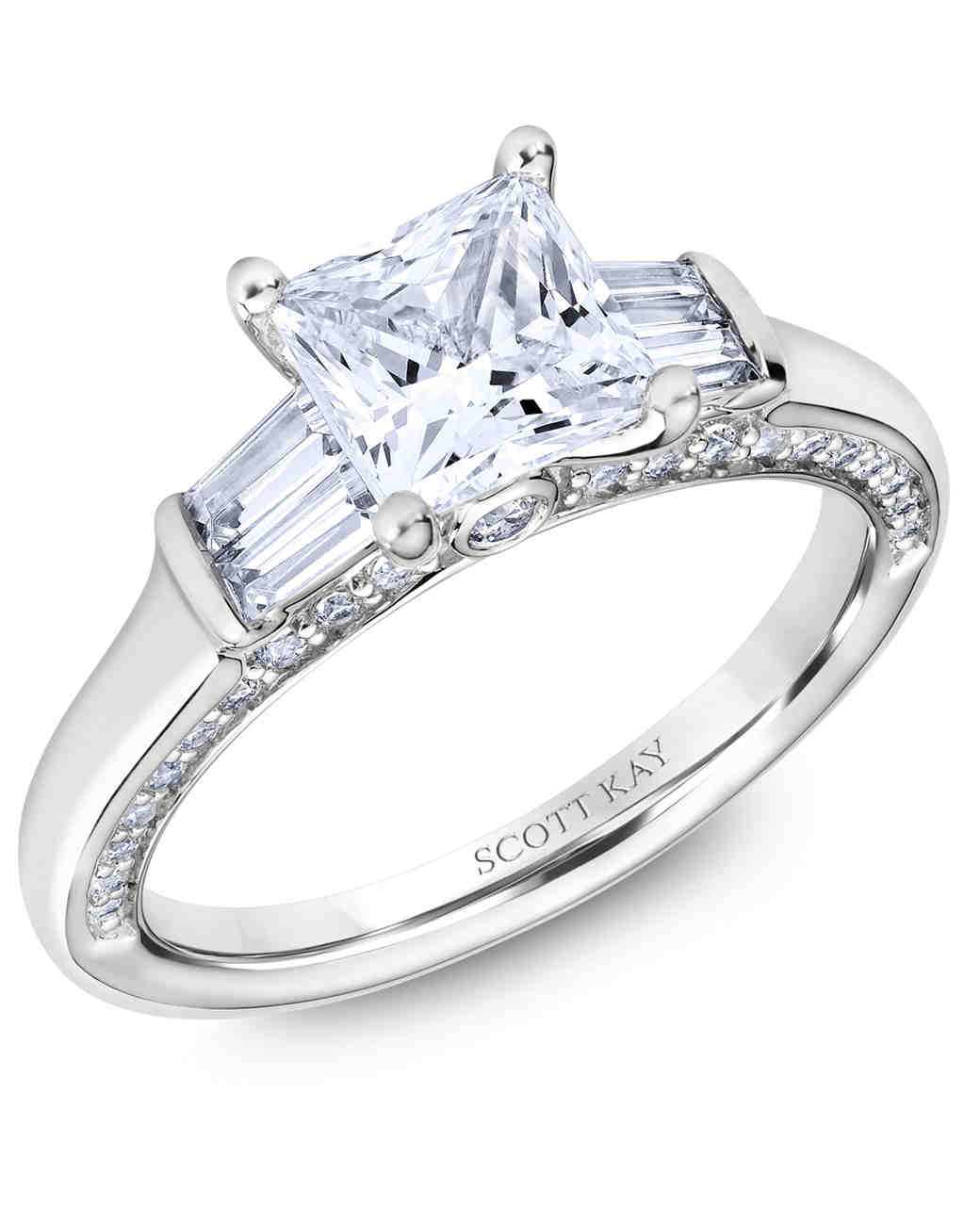 Scott Kay Princess-Cut Engagement Ring