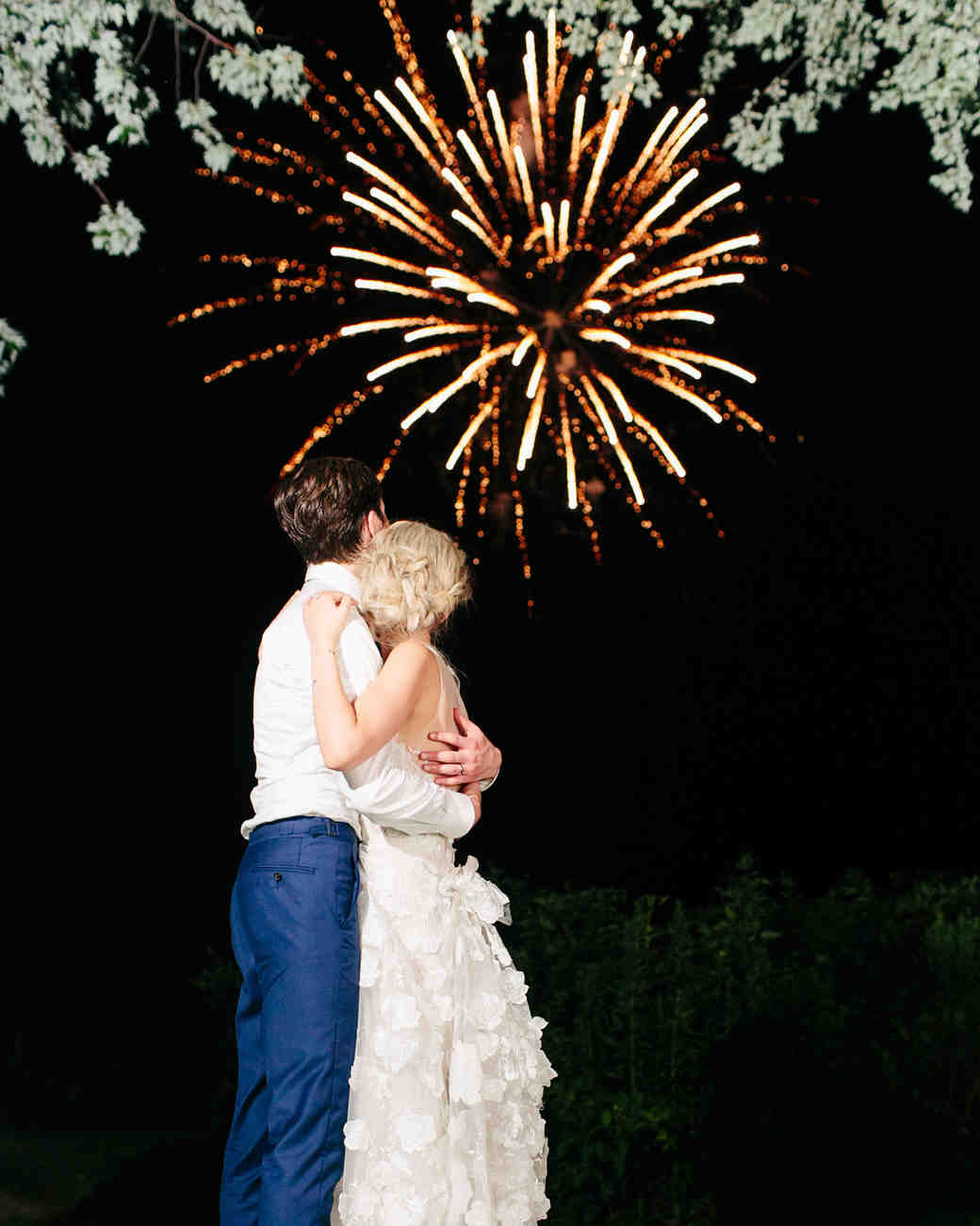 stephanie philip wedding fireworks