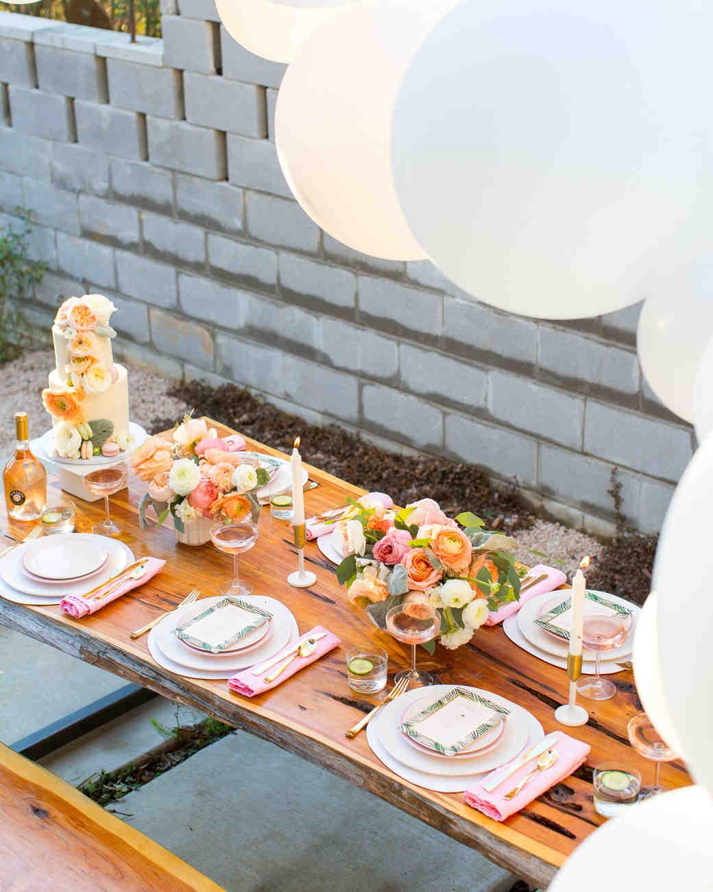 bridal shower table