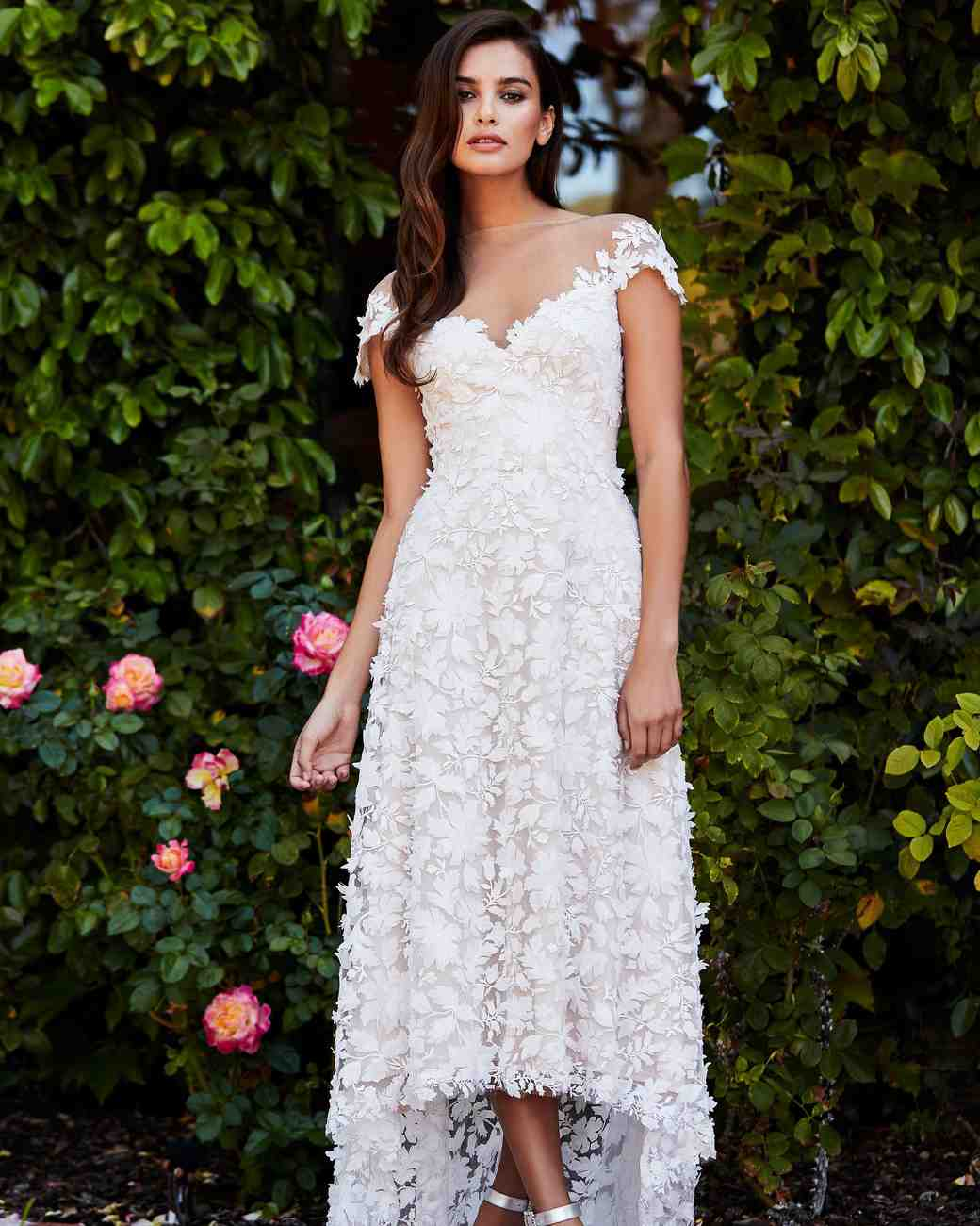 tadashi shoji wedding dress fall 2018 lace embroidered sweetheart