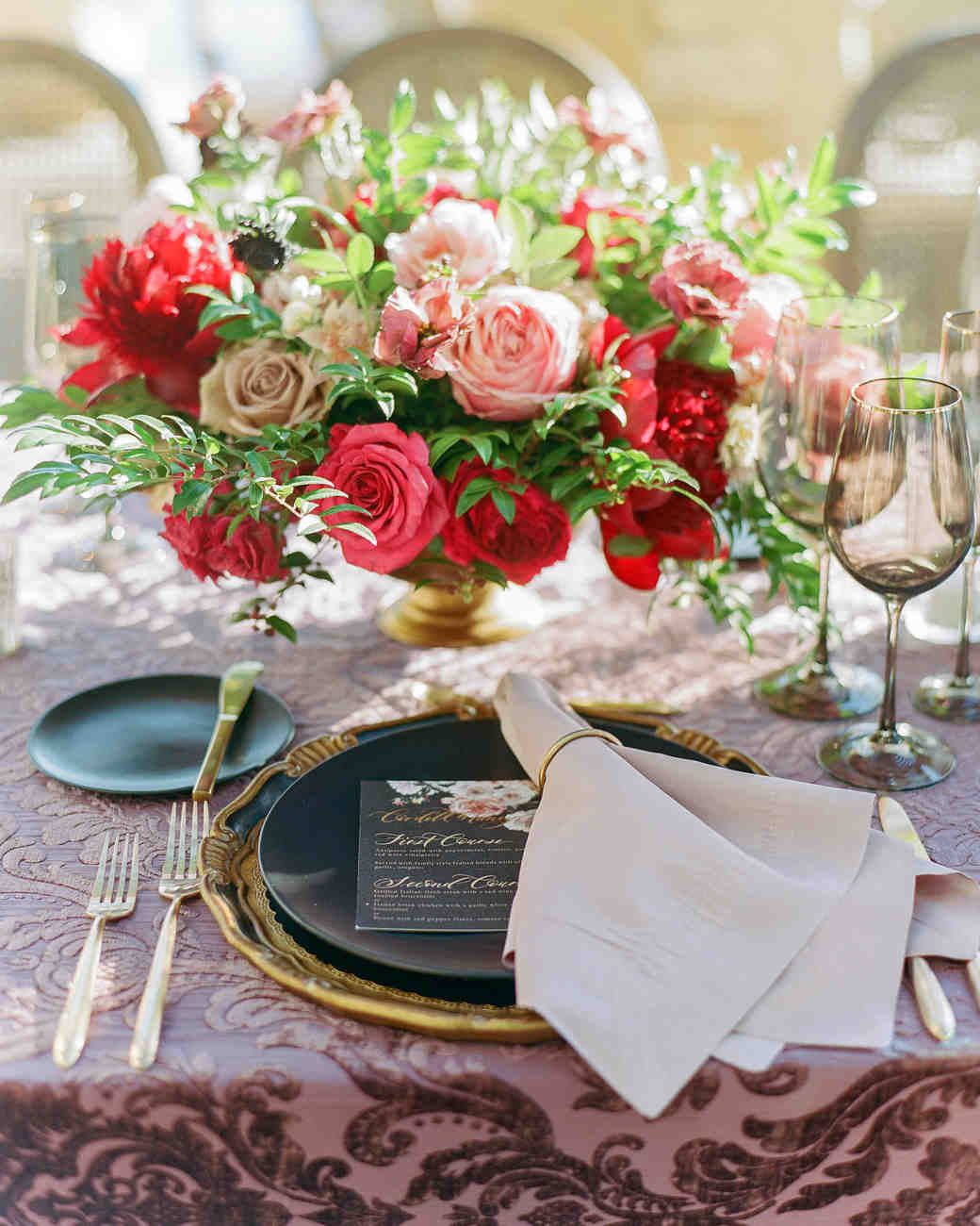 tillie dalton wedding reception table setting