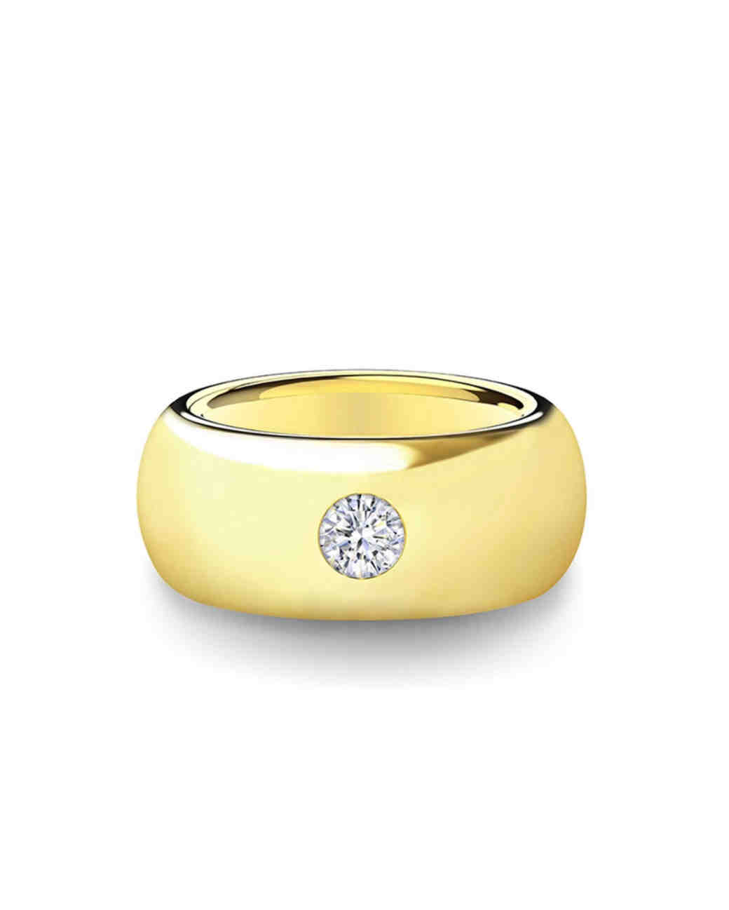 gold wedding band diamond